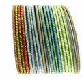 NEXTE Jewelry Striped Fabric Stackable Bracelet Set