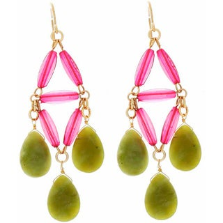 NEXTE Jewelry Genuine Green Jade Dangle Earrings