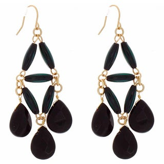 NEXTE Jewelry Genuine Onyx Dangle Earrings