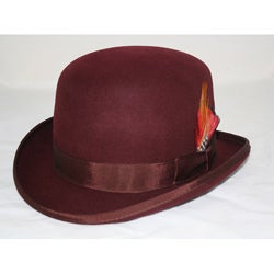 Ferrecci Men's Brown Wool Bowler Hat