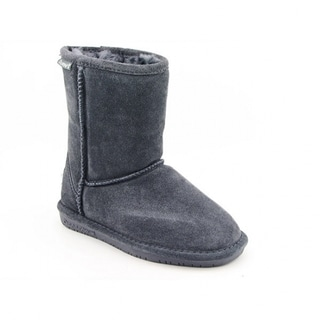 Bearpaw Emma Girls Grey Charcoal Winter Boots