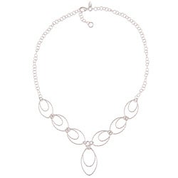 La Preciosa Sterling Silver Oval Link Necklace