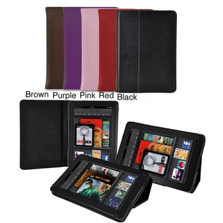 Amazon Kindle Fire First Generation Premium Leatherette Folding Stand Case