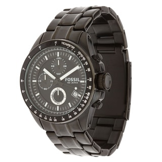 Fossil Men's CH2601 'Decker' Black Steel Chronograph Watch