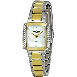 Skagen Women's Watch 688SGX Gold Stainless Steel Bracelet and Mother Of Pearl Dial