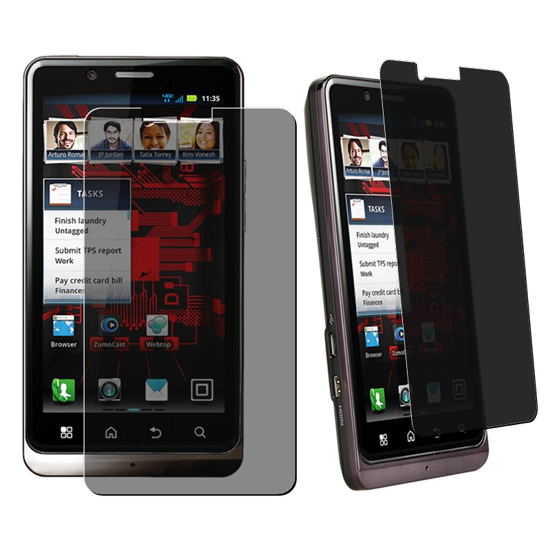 Privacy Filter Screen Protector Motorola Droid Bionic XT875