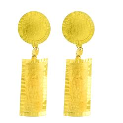 Fremada 14k Yellow Gold Satin Multi-shape Dangle Earrings