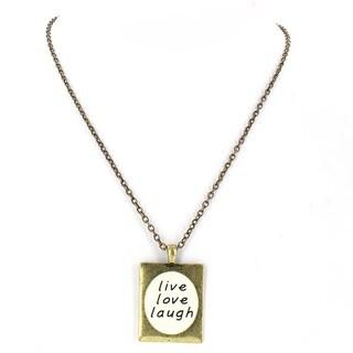 Goldtone 'live, love, laugh' Necklace