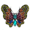 Multi-colored Crystal Butterfly Ring