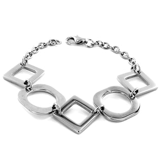 Stainless Steel Polished Cut-out Shapes Bracelet