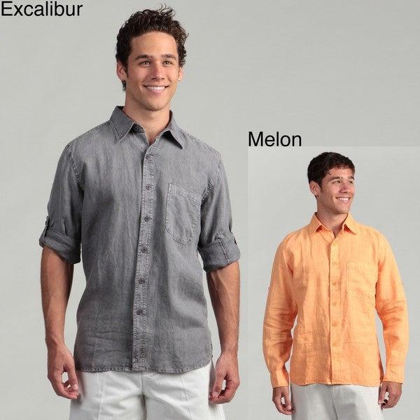 Natural Blue Men's Linen Shirt