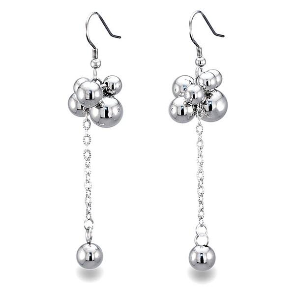 Stainless Steel Bauble Hanging Earrings