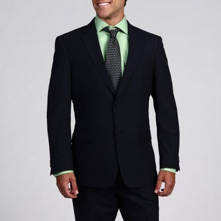 Tommy Hilfiger Men's Trim Fit Navy Pinstripe 2-button Wool Suit