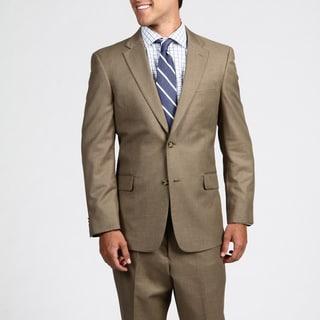 Tommy Hilfiger Men's Trim Fit Tan Sharkskin 2-button Suit