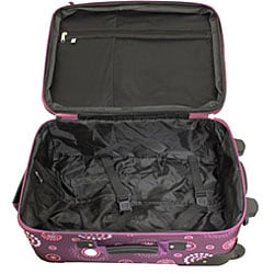 Rockland Expandable Purple Pearl 2-piece Lightweight Carry-on Luggage Set