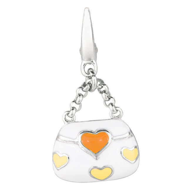 Sterling Silver Heart Purse Charm