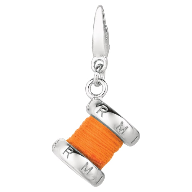 Sterling Silver Spool of Thread Charm