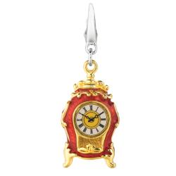 Sterling Silver Vintage Clock Charm