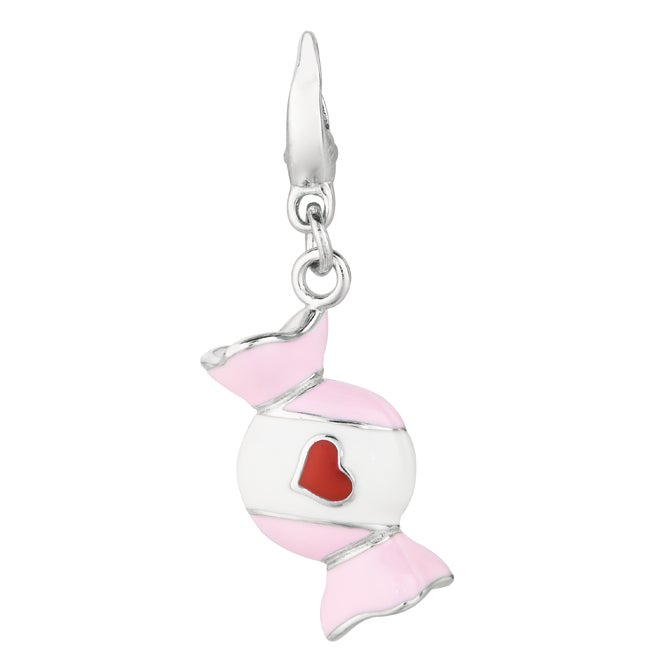 Sterling Silver Wrapped Candy Charm