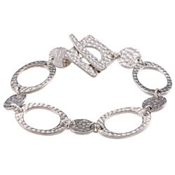 Hammered Silver Plated Bracelet