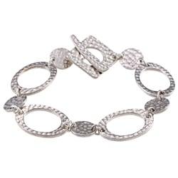 Hammered Silver Plated Bracelet