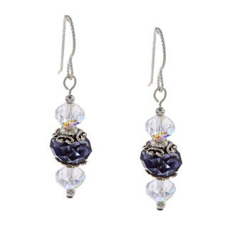 Iolite Crystal Earrings