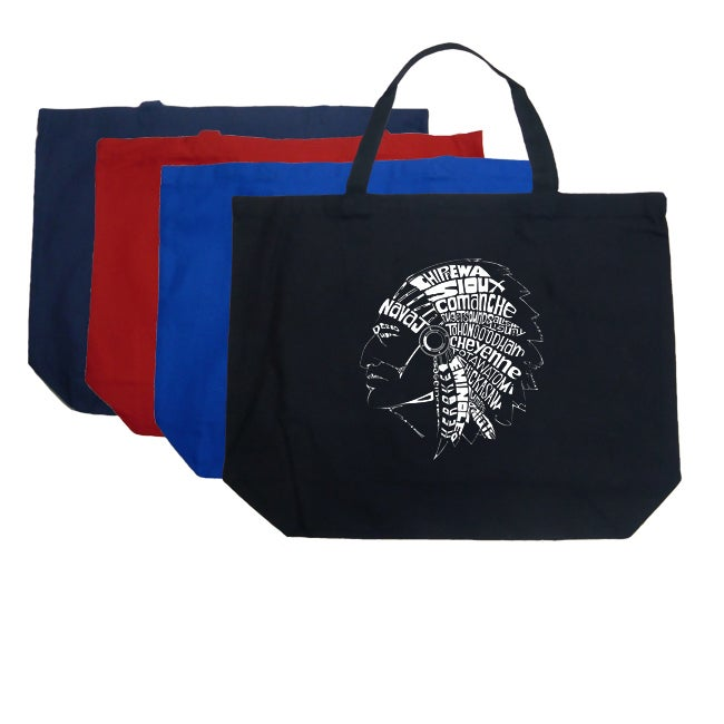 Los Angeles Pop Art Native American Indian Shopping Tote