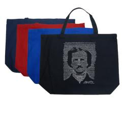 Los Angeles Pop Art Edgar Allen Poe The Raven Tote Bag