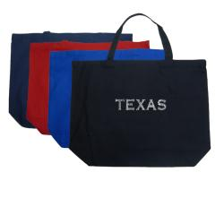 LA Pop Art 'Texas' Cotton Tote Bag