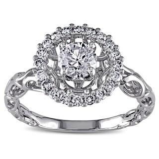 Miadora 18k White Gold 3/4ct TDW White Diamond Ring (H-I, I1-I2)