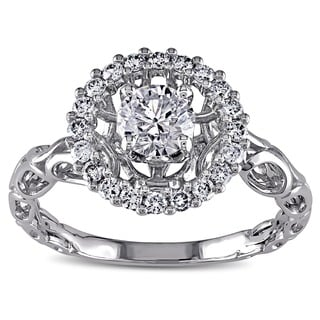 Miadora Signature Collection 18k White Gold 3/4ct TDW Diamond Ring (H-I, I1-I2)