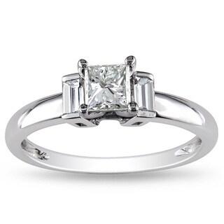 Miadora 14k White Gold 3/4ct TDW Diamond Ring (G-H, I1-I2)
