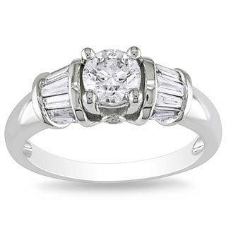 Miadora 14k White Gold 1ct TDW White Diamond Ring (G-H, I1-I2)