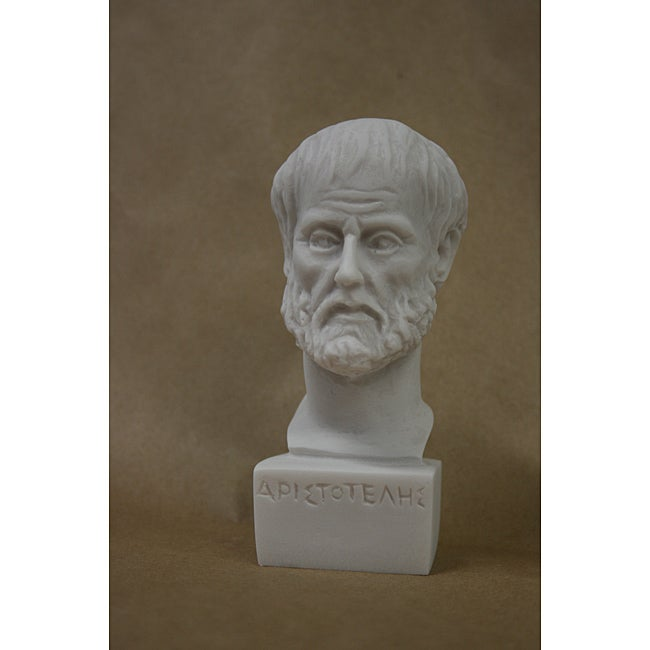 Classic-style 4.5-inch White-bonded Marble Bust of Aristotle