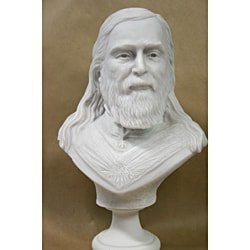 White Bonded Marble Bust of Albert Pike