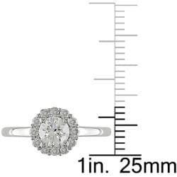 14K White Gold 1 CT TDW Diamond Ring (G-H, I2-I3)
