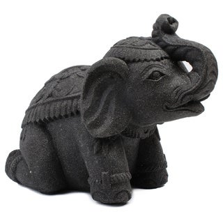 Small Stone Elephant Statuette (Indonesia)