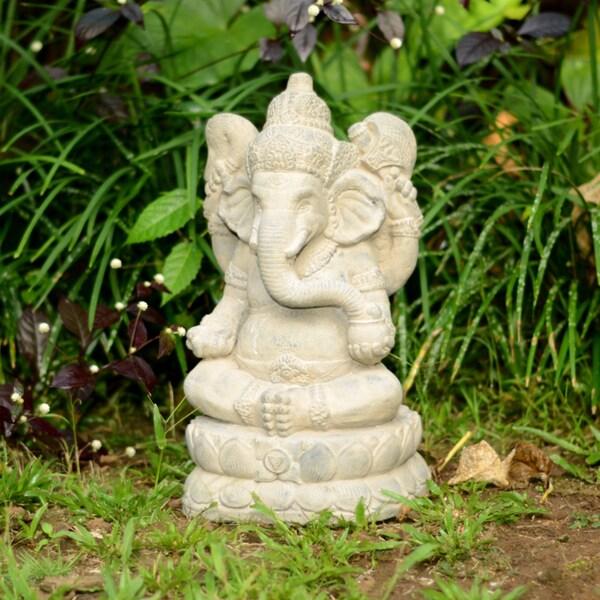 Large Stone Elephant Ganesha Statue (Indonesia)