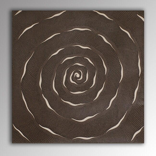 Acrylic on Canvas Spiraled En Rose Painting (Indonesia)