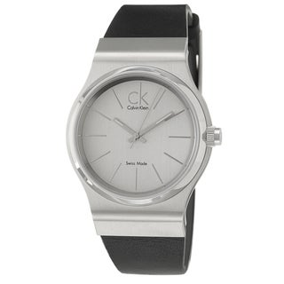 Calvin Klein Men's 'Layers' Stainless Steel and Leather Quartz Watch