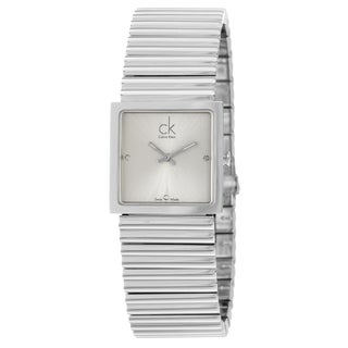 Calvin Klein Women's 'Spotlight' Silver-Dial Stainless-Steel Quartz Diamond Watch