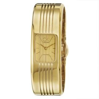 Calvin Klein Fractal Women's Yellow Goldplated Stainless-Steel Swiss-Quartz Watch
