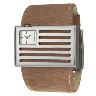 Calvin Klein Jeans Men's 'Banner' Stainless Steel and Canvas Quartz Watch