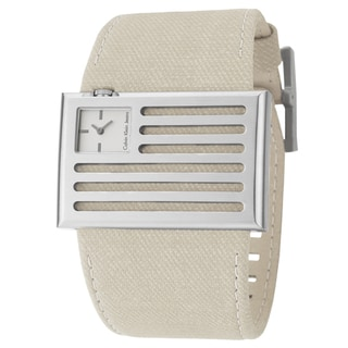Calvin Klein Jeans Men's 'Banner' Stainless Steel and Canvas Swiss Quartz Watch