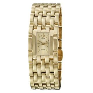 Calvin Klein Women's 'Braid' Yellow Goldplated Stainless Steel Quartz Watch