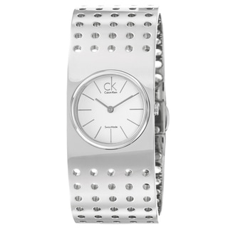Calvin Klein Women's 'Grid' Stainless Steel Quartz Water-Resistant Watch