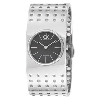 Calvin Klein Women's 'Grid' Stainless Steel Quartz Watch