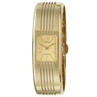 Calvin Klein Fractal Women's Yellow Goldplated Stainless-Steel Quartz Fashion Watch