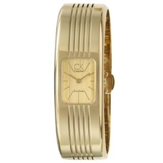 Calvin Klein Fractal Women's Yellow Goldplated Stainless-Steel Quartz Fashion Watch
