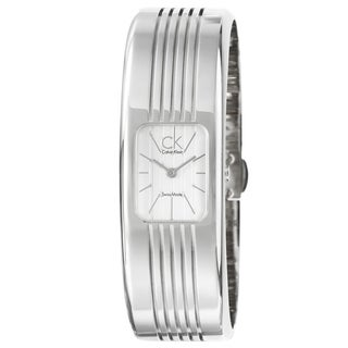 Calvin Klein Women's 'Fractal' Water-Resistant Stainless-Steel Quartz Watch